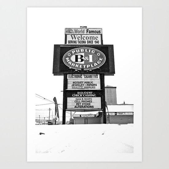 Frozen B&I Art Print