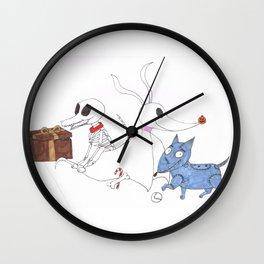 3 Dead Dogs Wall Clock