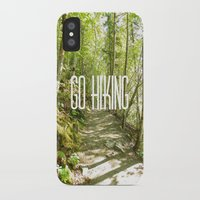 hiking iPhone & iPod Cases featuring Go Hiking by Jennifer Kimberly