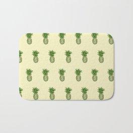 Yellow Pineapple Pattern Bath Mat