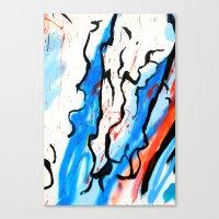 american beauty Canvas Prints featuring American by LA_Graffiti Decor