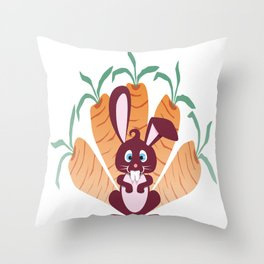rabbit! Throw Pillow
