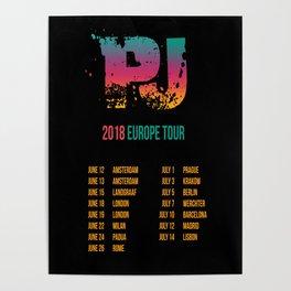 PJ - 2018 Europe Tour Poster