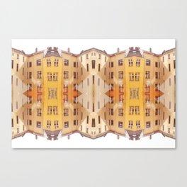 city house pattern Canvas Print