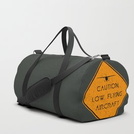 Caution Low Flying Aircraft Duffle Bag