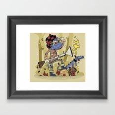 Wild hunt Framed Art Print