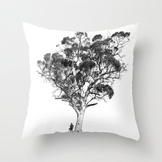 Tree and Gangster Throw Pillow