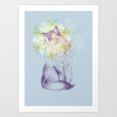 Techno - chat Art Print