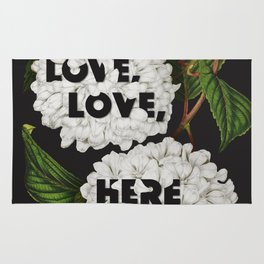 Love, love, here we are Rug