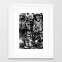 horror Framed Art Prints featuring Horror by Sinister Star