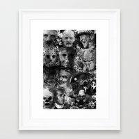horror Framed Art Prints featuring Horror by Sinister Star