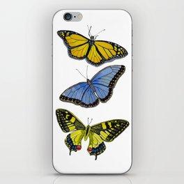 3 Butterflies iPhone Skin