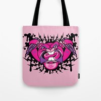 beaver Tote Bags featuring Evil Beaver by harebrained
