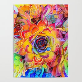 Succulent Madness Poster