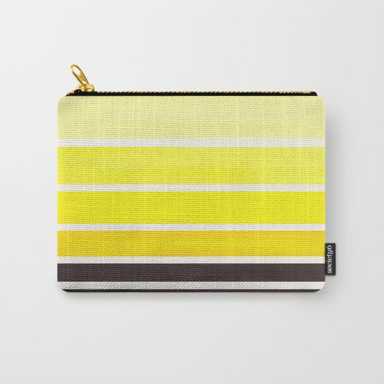 Yellow Minimalist Watercolor Mid Century Staggered Stripes Rothko Color Block Geometric Art by enshape