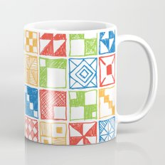 Abstract Squares Primary Mug