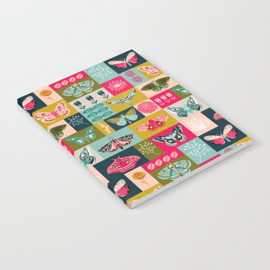 Lepidoptery tiles by Andrea Lauren  Notebook