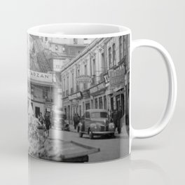"Valparaiso Chile: Waterfront district showing ""ascensors"" up to top of bluff. June, 1941. Coffee Mug"