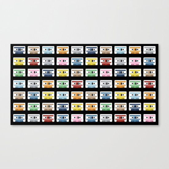 70 Rainbow Tapes Canvas Print