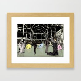 News Years Eve in London Framed Art Print