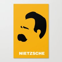 nietzsche Canvas Prints featuring NIETZSCHE by eve orea