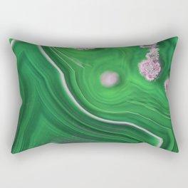 Green Marble Agate 0410 Rectangular Pillow