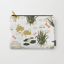 Asian floral illustration pattern I Carry-All Pouch