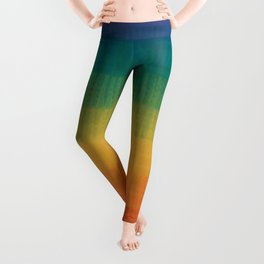 Colorful Grunge Texture Pattern Seamless Abstract Rainbow Multi Colored Illustration Leggings