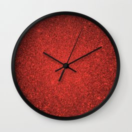 Andesine Red Sparkling Jewels Pattern Wall Clock