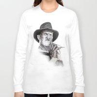 freddy krueger Long Sleeve T-shirts featuring Freddy krueger nightmare on elm street by calibos