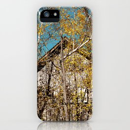 A Barn in Autumn iPhone Case