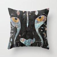 cheetah Throw Pillows featuring Cheetah by  Steve Wade ( Swade)