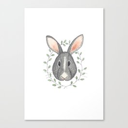 Buns the Grumpy Bunny Canvas Print
