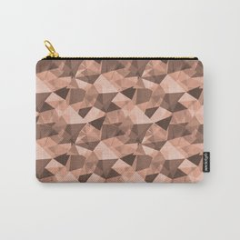 Abstract Geometrical Triangle Patterns 4 Pratt and Lambert Earthen Trail 4-26 Carry-All Pouch