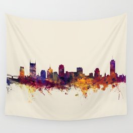 Nashville Tennessee Skyline Wall Tapestry
