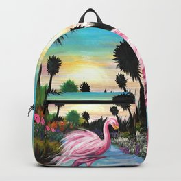 Flamingos Paradise Backpack