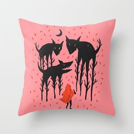 She persists - Wood Cut Art Work Throw Pillow