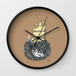 Lucky Mud Lucky Me (digital color) Wall Clock