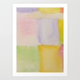 Colour Pattern  Art Print