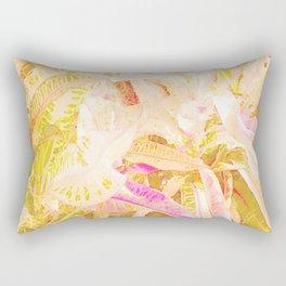 Tropical croton leaves 2/2 Rectangular Pillow