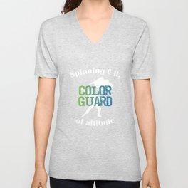 Spinning 6 Ft of Attitude Color Guard Pride T-Shirt Unisex V-Neck