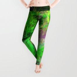 Neon Galaxy - Abstract Leggings