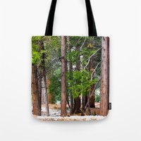 forrest Tote Bags featuring Forrest by Savannah Ault