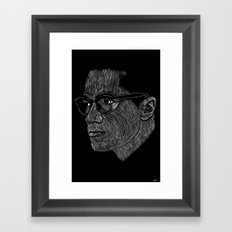 Malcom X Framed Art Print