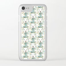 Menagerie Lion Clear iPhone Case
