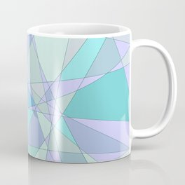 Shattered Purple & Green Coffee Mug