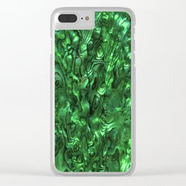 Abalone Shell | Paua Shell | Green Tint Clear iPhone Case