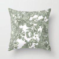 leaf Throw Pillows featuring Leaf  by Maethawee Chiraphong