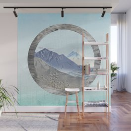 Looking to the mountains Wall Mural