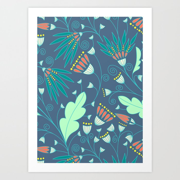 Evening flourishes Art Print